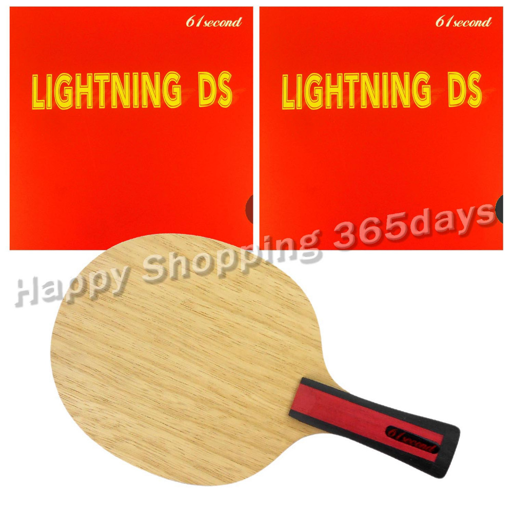 Combo Racket 61second 3004 with 2x Lightning DS NON-TACKY long Shakehand-FL with a free small case Long  Shakehand FLCombo Racket 61second 3004 with 2x Lightning DS NON-TACKY long Shakehand-FL with a free small case Long  Shakehand FL