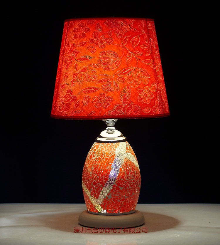 New Style E27 Hand-inlaid glass mosaic bedroom living room decorative Table Lamps of Mediterranean style Turkish Lamps