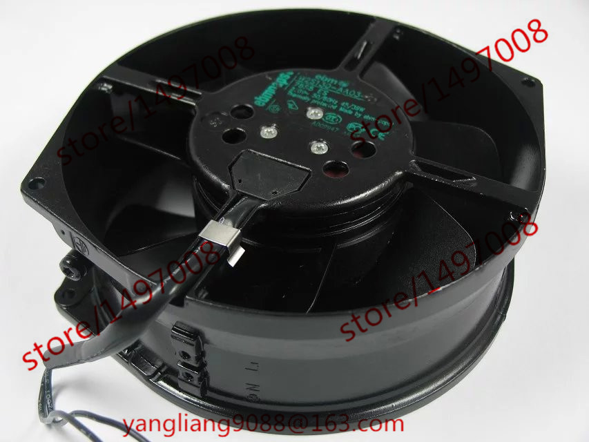 ebmpapst W2S130-AA03-01 AC 230V 45/39W 172x150x55mm Server Round fan free shipping emacro fujitsu uf 15kmr23 bwhf ac 23v 45w 2 wire 110mm 172x150x55mm server round cooling fan