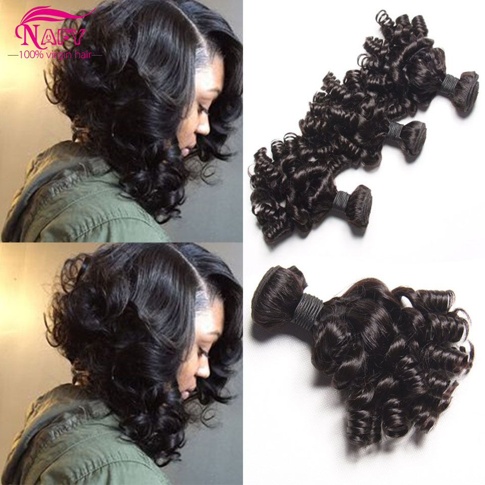 Brazilian Curly Hair Bouncy Curls Weave Human Hair 4