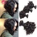 Brazilian Curly Hair Bouncy Curls  Weave Human Hair 4 Bundles Deals Romance Curl Human Hair Virgin Brazilian Fummi Weave Soft