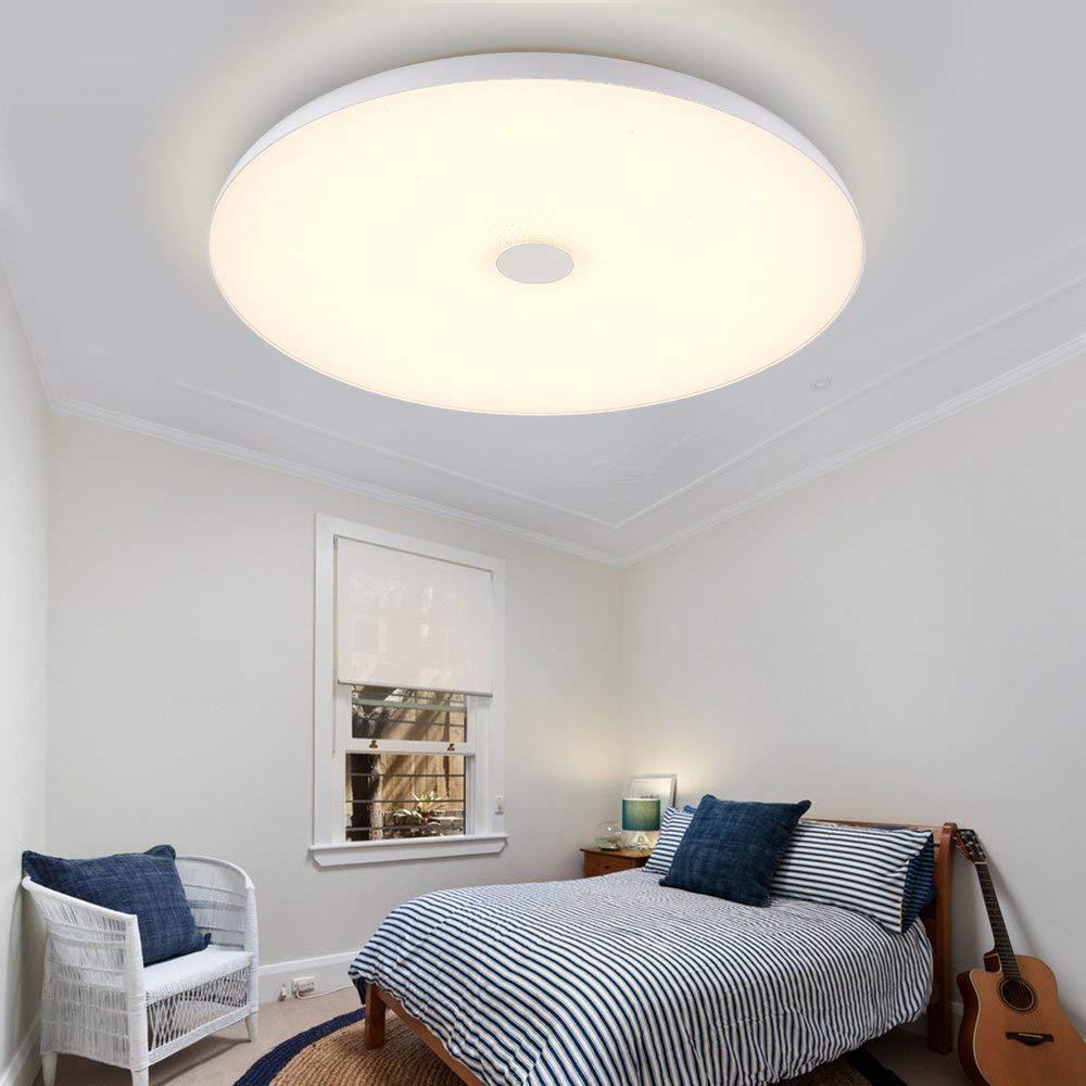 LED 36 W/48 W Smart Voice APP Muziek Lichten Dimbare Plafond Verlichting Afstandsbediening Plafond Verlichting Slaapkamer Verlichting
