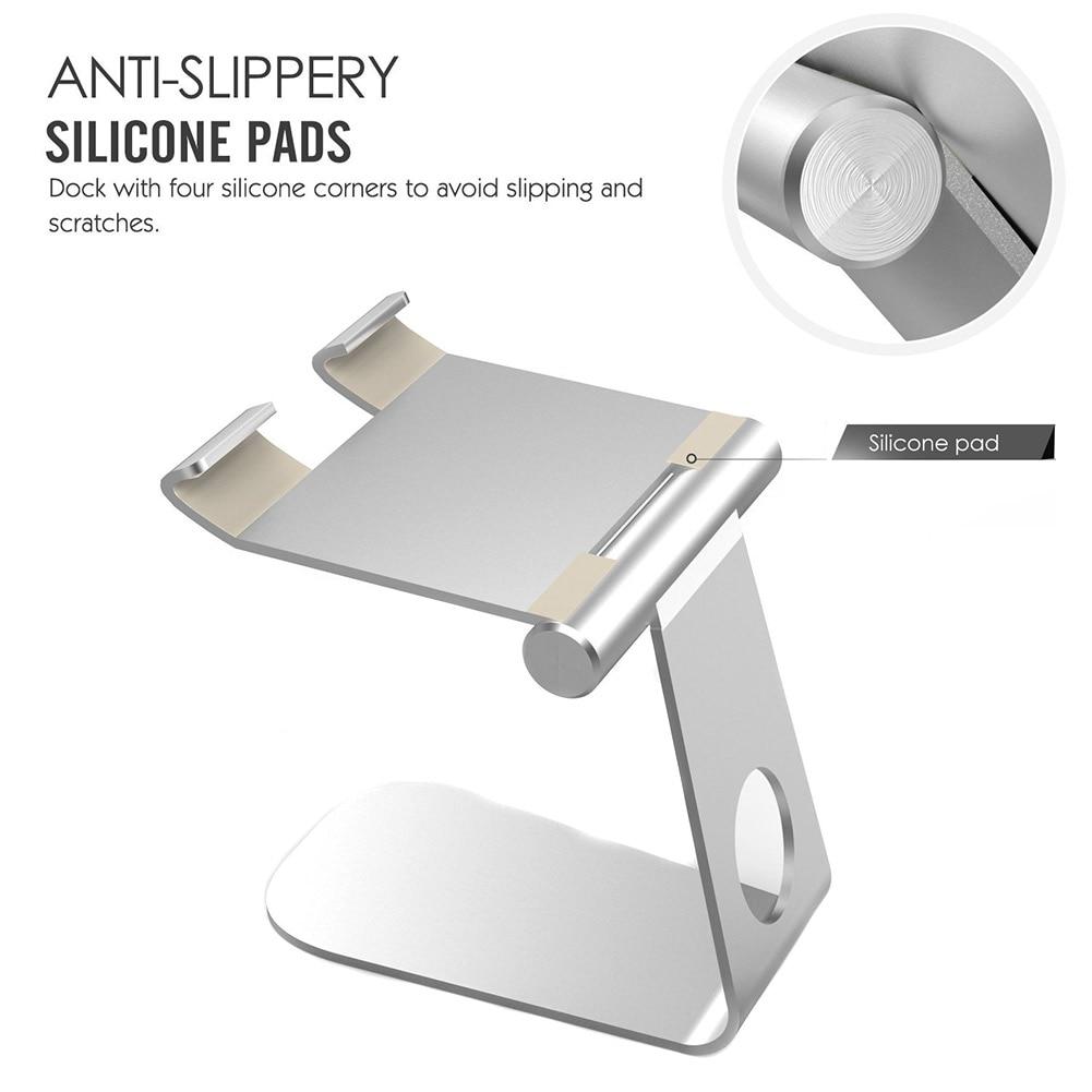 Portable Mobile Phone Stand Aluminum Alloy Desktop Holder Cradle For iPad Pro/iPad Air/iPhone 7 Plus/6/Samsung Galaxy S8 QJY99