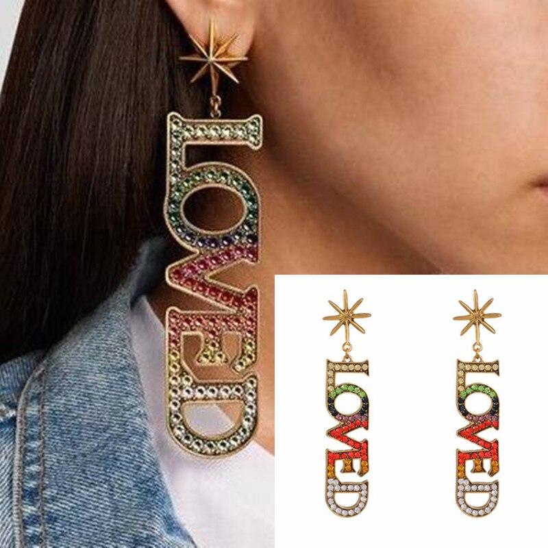 2018 New Fashion Stud Jewelry Hot Sale Love Heart Fine crystal Zircon bts Earrings For Woman Accessories Best Gift