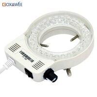 100V 220V 60000LM Adjustable Microscope LED Ring Light Illuminator Lamp For STEREO Microscope Excellent Circle Light EU plug