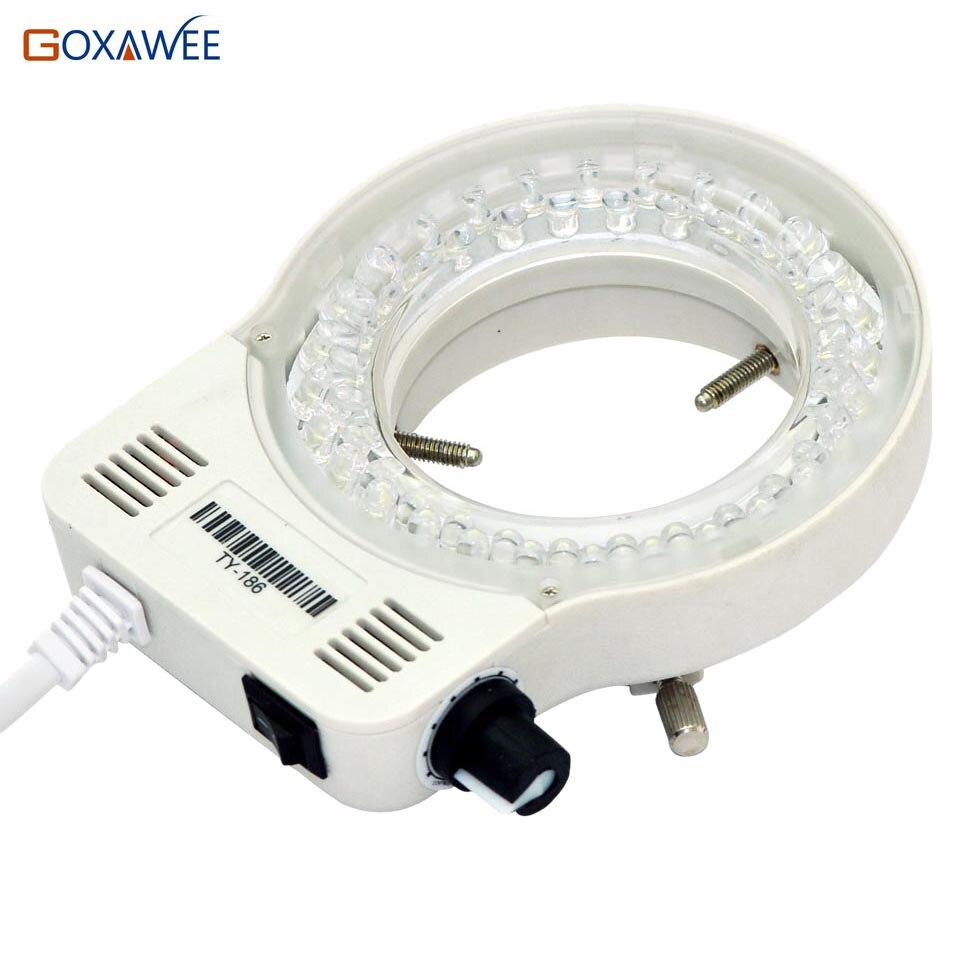 220 V 100 V 60000LM microscopio ajustable anillo LED lámpara iluminadora para microscopio estéreo excelente luz circular