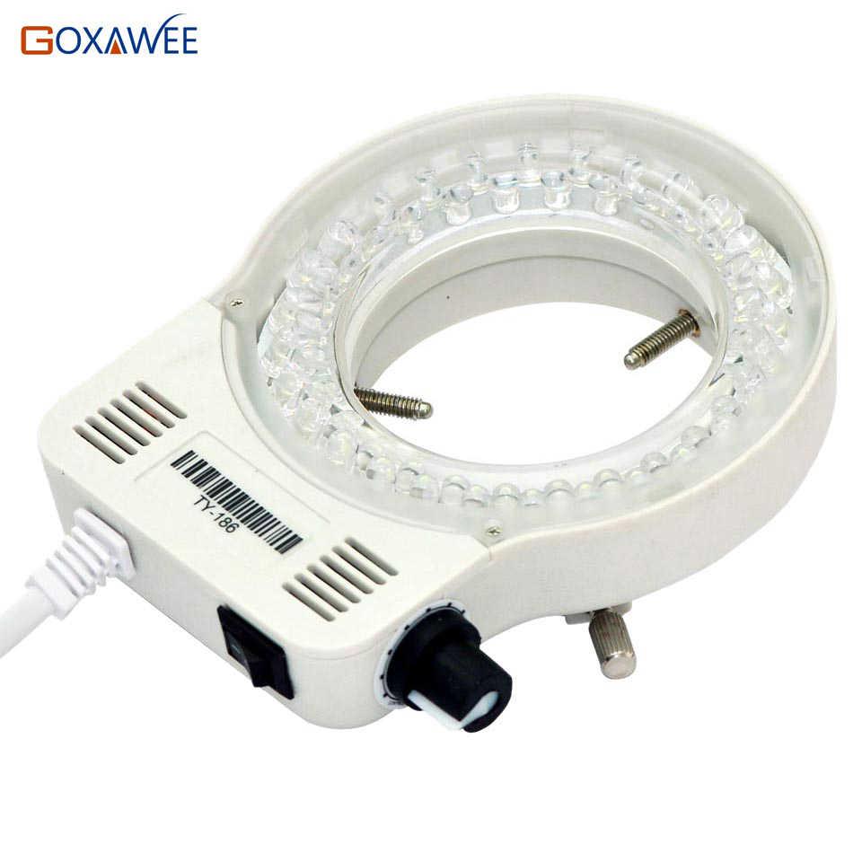 Lampe d'éclairage annulaire Microscope, Microscope réglable 100V 220V 60000LM Microscope à lumière annulaire lampe pour Microscope stéréo excellente lumière circulaire prise EU
