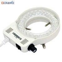 Lampe réglable d'illuminateur de lumière d'anneau de LED de Microscope de 100V 220V 60000LM pour l'excellente prise d'eu de lumière de cercle de Microscope stéréo