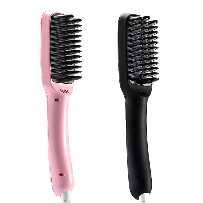 ФОТО 2016 Newest Electric Tourmaline Ceramic Hair Straigt Comb Professional Inoic Hair Ceramic Brush Comb K-98 For Hair Straighting