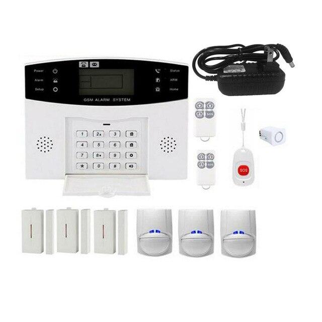 Newest GSM Wireless Home Burglar Alarm System SOS Motion Door Window Sensor Security Auto Home Security Safe Alarm System