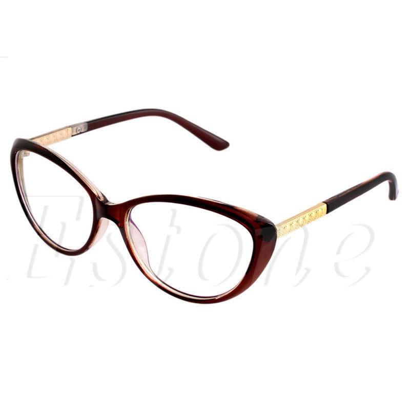 97d928beea Women Eyeglasses Frame Fashion Cat Eye Clear Lens Ladies Eye Glasses  Spectacles