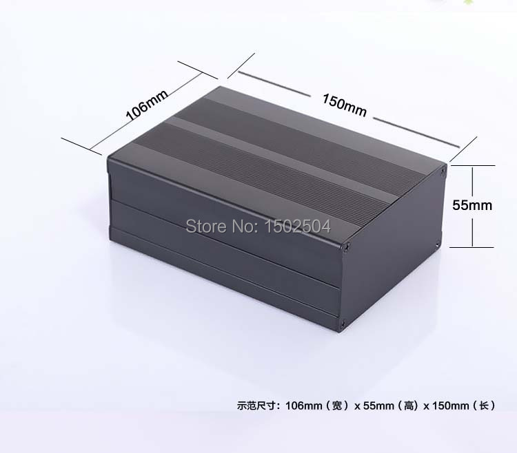 Aluminum enclosure electrical project case PCB box 106*55*150mm electronics enclosure DIY NEW цены