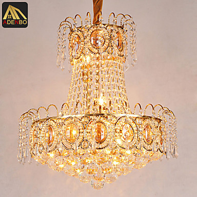 NEW Fashion Modern LED Pendant Lights With K9 Lustres And Gold Color For Dining Room Lighting Free shipping free shipping new arrival 35pcs pack 2m pcs led aluminum profile for led strips with milky or transparent cover and accessories