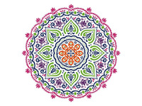 Wall Decals Full Color Mandala Decal Colorful Vinyl Sticker Bedroom Decor 22inx22in
