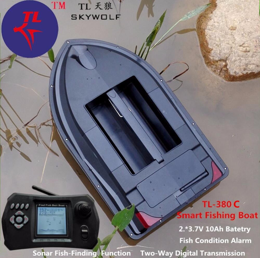 Wireless Sonar Fish Finder RC Electric Biat Boat TL-380C Feeding Fish Condition Alarm Remote Control RC Carp Fishing Bait Boat mini fast electric fishing bait boat 300m remote control 500g lure fish finder feeder boat usb rechargeable 8hours 9600mah