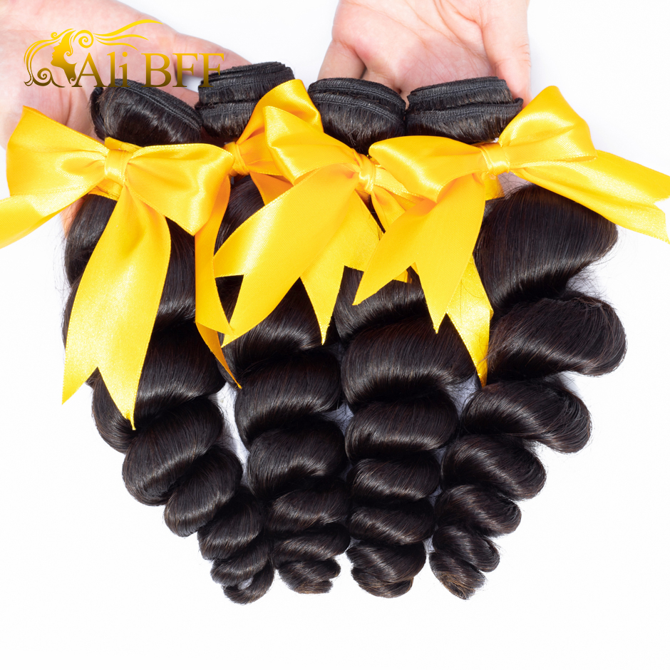 Loose Wave Bundle With Frontal Human Hair 3 Bundle With Lace Frontal Closure Remy Brazilian Hair Loose Wave Bundle With Frontal Human Hair 3 Bundle With Lace Frontal Closure Remy Brazilian Hair Weave Bundle and Frontal