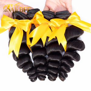 Image 3 - loose Wave Bundles With Closure 4*4 6*6 Lace Closure Brazilian 180% density Hair Weave Bundles With 4*4 Closure hair wig