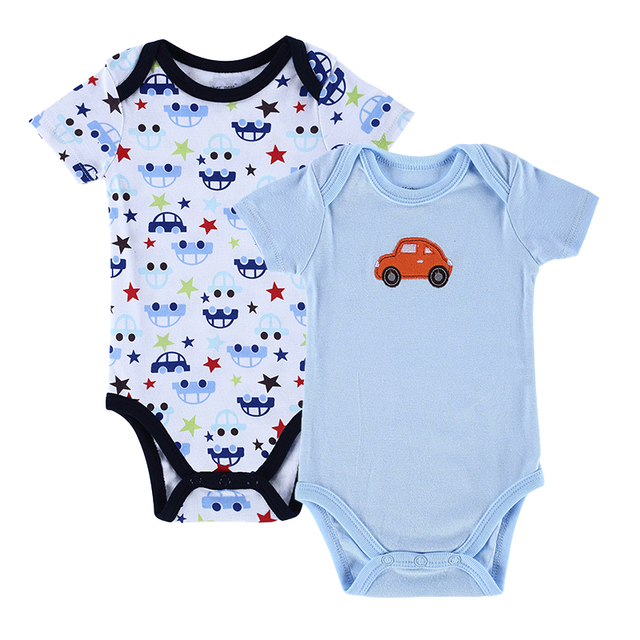937b1c2eb184 Baby Boys Girls Clothes 2 Pieces Baby Bodysuit Newborn Cotton Short Sleeve  Body Baby Jumpsuit Car's Style Infant Clothes