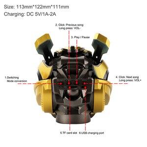 Image 5 - Bumblebee Helmet Bluetooth Speaker Fm Radio Usb Mp3 TF Smart Subwoofer Blue Tooth 5.0 Portable Mini Wireless Stereo Loudspeakers