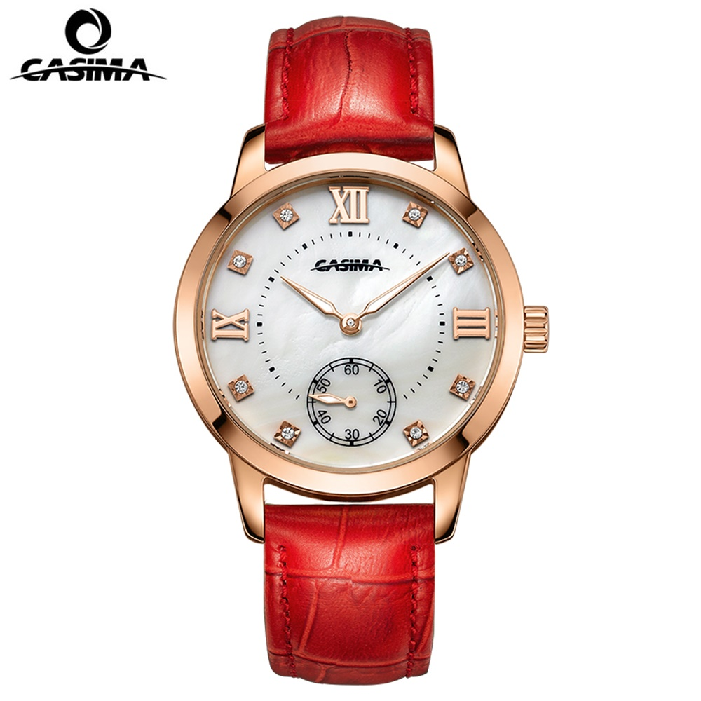 CASIMA Hot-selling Luxury brand women watches fashion leisure female waterproof 50m Ladies quartz wrist watch leather fashion women watches funny comment women men wrist watches who cares im already late ltter print ladies gift 2017 hot selling