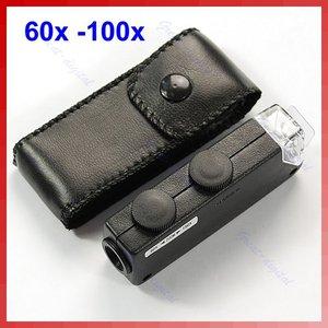Image 2 - ミニハンドヘルド 60x 100x ポケット顕微鏡 magnifer ルーペ倍率ポケット顕微鏡ジュエリー拡大鏡