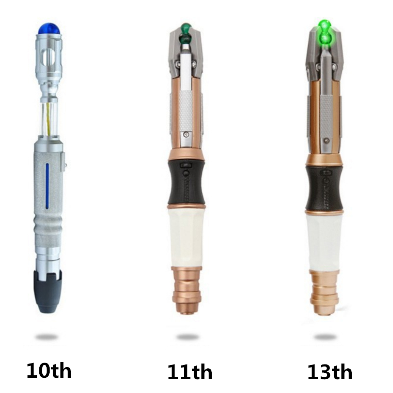 New 10th/11th/12th Screwdriver Cospaly Light&Sounds Official Sonic Toys Doctor Dr.WHO Collector Action figure toy Christmas gift th 900