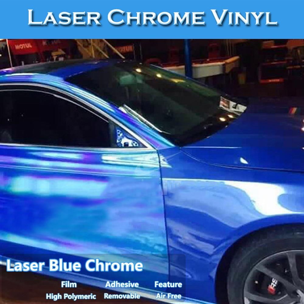Self-adhesive Glossy Mirror Chrome Silver Vinyl Tape Wrap Film Sheet Bubble Free