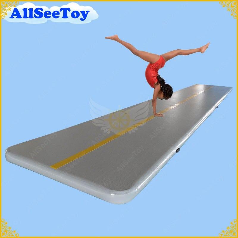 Bonne qualité Airtrack 5 mètres de gymnastique gonflable de voie d'air à vendre, piste gonflable de dégringolade d'air