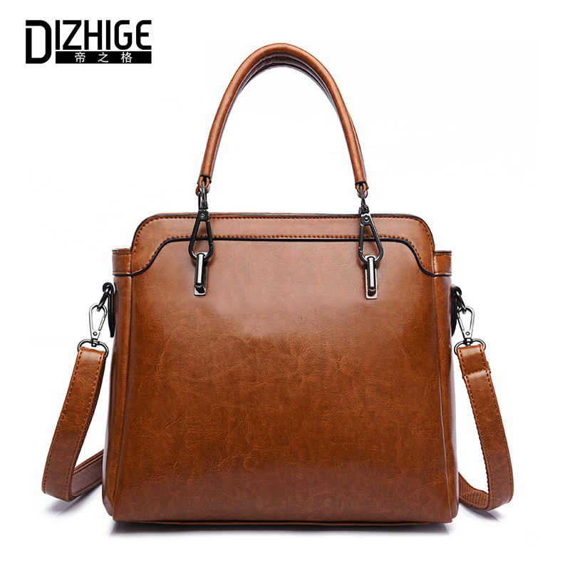 DIZHIGE Women Shoulder Bag High Quality PU Leather Bags Ladies Handbag Female Solid Tote Bag Brand 2018 Famous Brand Designer