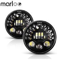 Marloo 2X 7inch LED Headlight Left Right Turn Signal DRL For Jeep Wrangler JK TJ Sahara