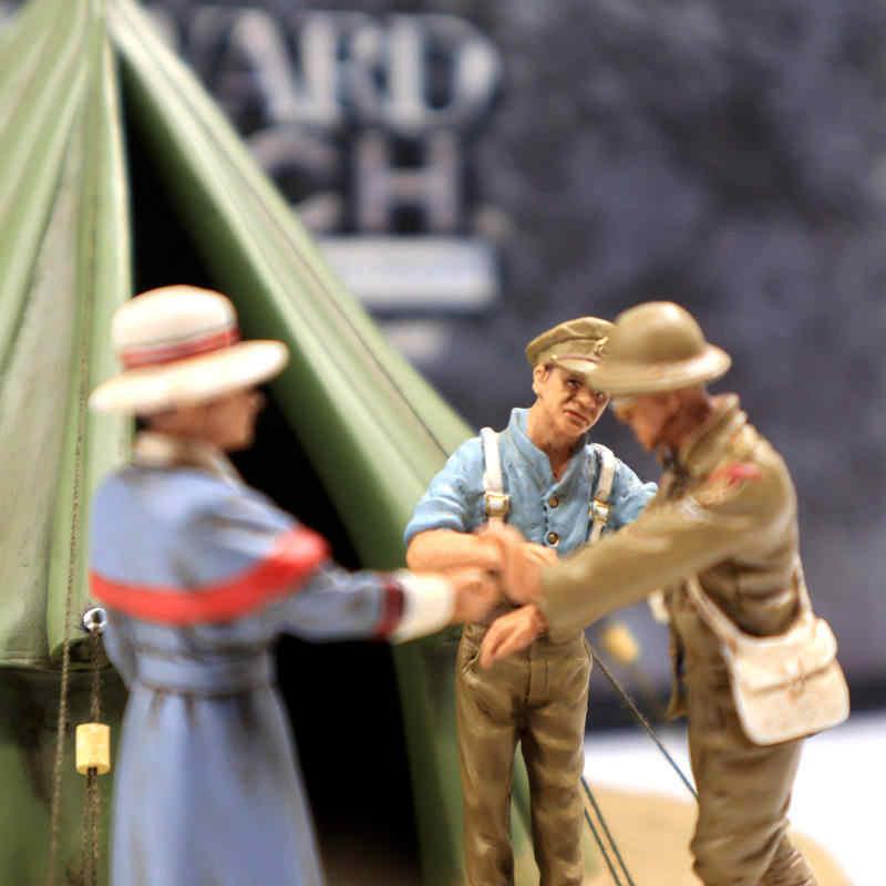 Corgi 1/32 Forward March CC59188 Pertempuran Somme Palang Merah Korban Tenda Di Tangan Yang Baik Mainan Anak