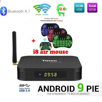 Android 9.0 TX6 Allwiner H6 Android TV BOX 4GB+32GB/64GB 4K H.265 5/2.4G Wifi BT4.1 portugal france iptv Smart Media Set Top Box