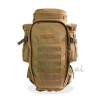 60L Tactical Rifle Carry Backpack Airsoft Paintball Hunting Bags Tactical Extended Full Gear Dual Rifle Gun bag