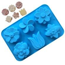 VOGVIGO цветок лоток для льда силиконовая форма льда Куб лоток форма для шоколадного фондана печенье Желе льда производитель кубиков наборы для десерта