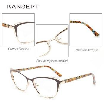 Metal Cat Eye Eyeglasses  3