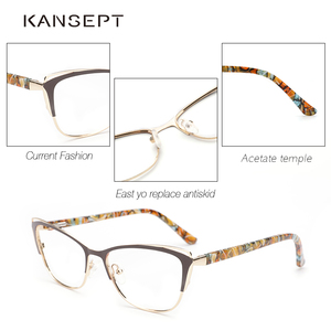 Image 4 - ผู้หญิงแฟชั่น CAT EYE แว่นตากรอบแว่นตากรอบแว่นตา Retro แว่นตาคอมพิวเตอร์โปร่งใสแว่นตาสำหรับผู้หญิง