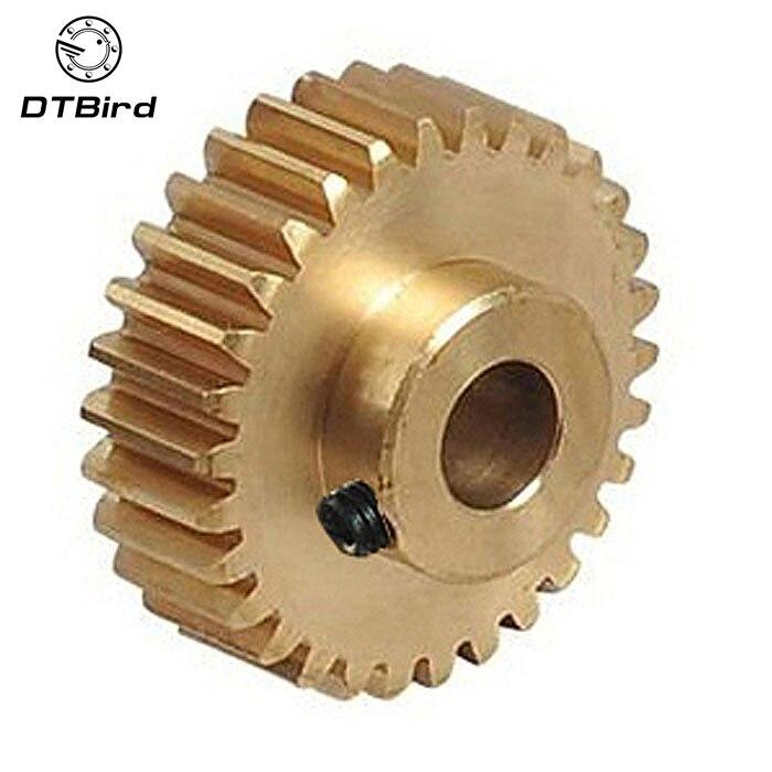 2pcs/lot 0.6M 40 41 42 43 44 45 46 47 48 49 Teeth (hole=3/3.17/4/5/6/6.35/7/8mm) Small Brass convex copper gear machining parts