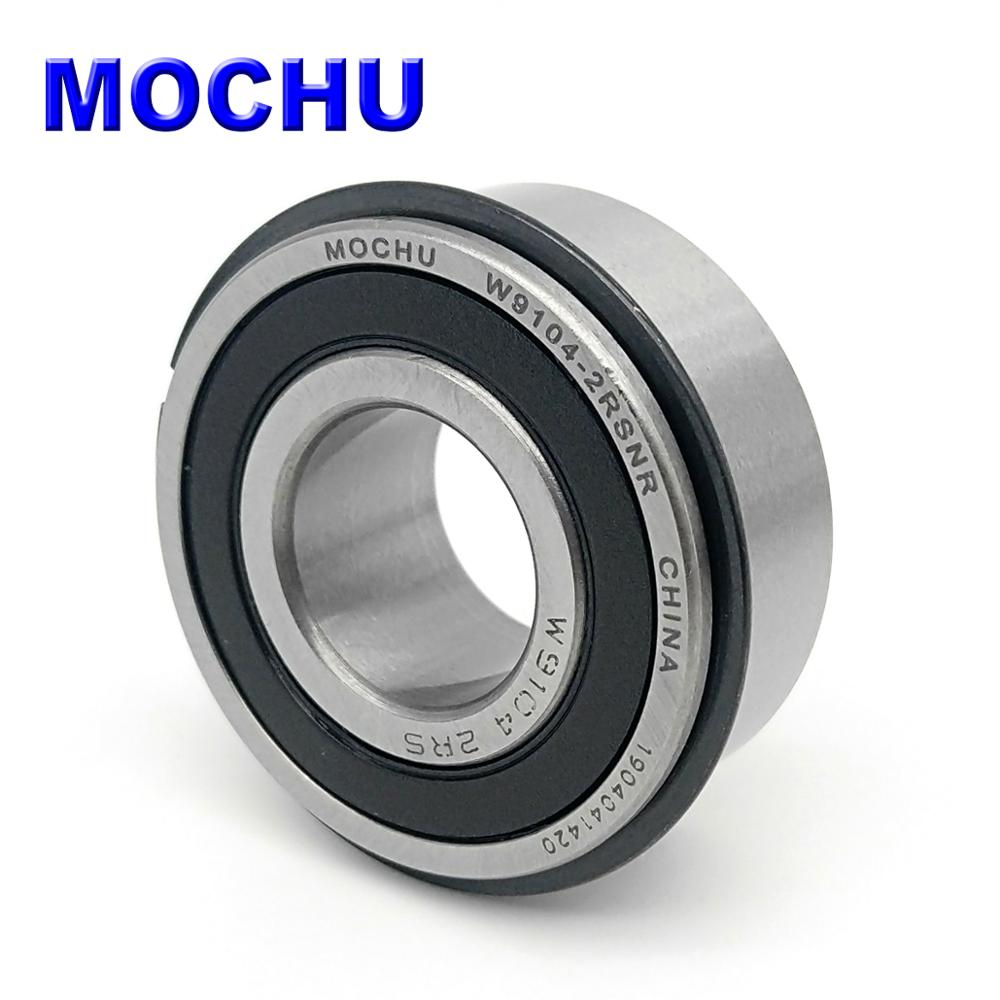 MOCHU W9104-2RSNR W9104-2RS 19.05X42X17.462 Single Row Deep Groove Ball Bearing With Groove And Snap Ring