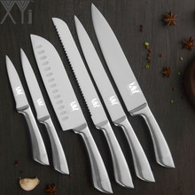 hot deal buy xyj kitchen cooking knives paring utility santoku chef slicing bread stainless steel knives fruit meat kitchen tools accessories