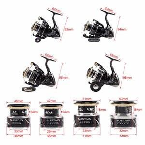 Image 5 - 100% New Original Shimano SUSTAIN 2500 C3000HG 4000XG C5000XG Spinning Fishing Reel Fresh Saltwater Low Speed Fishing Reel