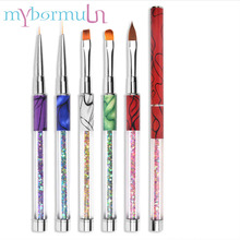 1pcs UV Gel Brush Liner Painting Pen Acrylic Drawing Nail Art Brush for Nails Gradient Sequin Handle Manicure Nail Art Tool