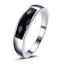 Высокое качество черный кристалл Стерлинговое Серебро 925 пробы