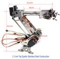 6DOF Robótico Braço Mecânico do Robô Braço de Fixação de aço inoxidável mão para Arduino Raspberry SNA-900
