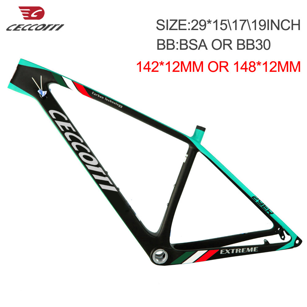 MTB Carbon Frame 142x12 Or 148x12mm Thru Axle Boost  29er Mountain Bike Frame 29 Max 2.35 Tires Bicycle Parts