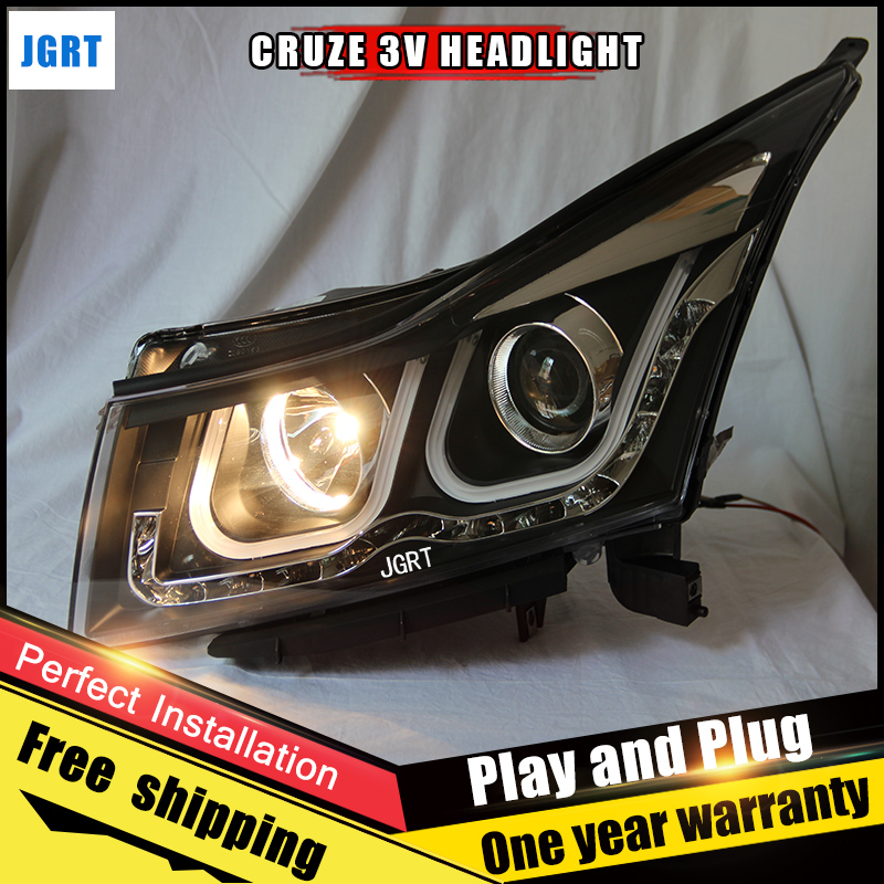 Car Style LED headlights for Chevrolet Cruze 2010-2014 for Cruze head lamp LED DRL Lens Double Beam H7 HID Xenon bi xenon lens auto part style led head lamp for toyota sienna led headlights 2011 for sienna drl h7 hid bi xenon lens angel eye low beam
