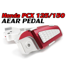 CNC Aluminum Motorcycle Foot Rests Foot Pegs Pedals Rear Set For Honda PCX 125 150