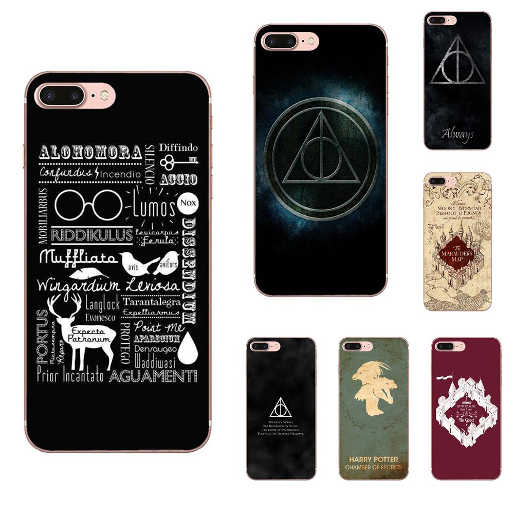 Soft TPU Print Capa Stunningharry Potter Magic Spell For Apple <font><b>iPhone</b></font> 4 4S 5 5C 5S SE <font><b>6</b></font> 6S 7 8 Plus X XS Max XR image