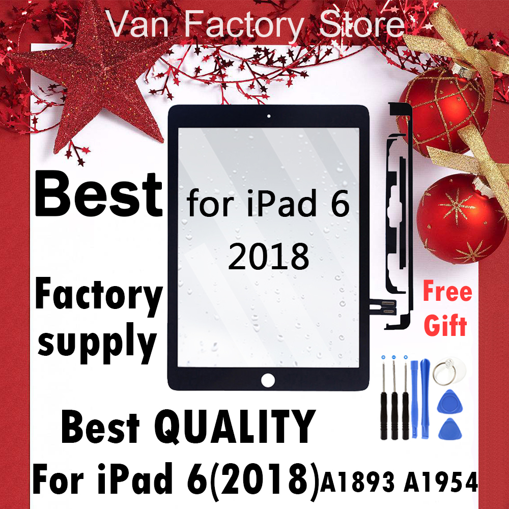 For IPad 9.7 2018 Version For IPad 6 6th Gen A1893 A1954 Touch Screen Digitizer Display Front Outer Panel Glass Assembly Replace