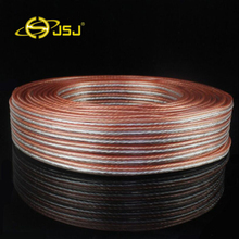цена на Wholesale brand hi-fi audio Bulk Cable OFC wire cable speaker wire speaker cable Free shipping