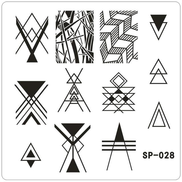 Equilateral triangle Nail Art Stamping Template Angle Designed ...